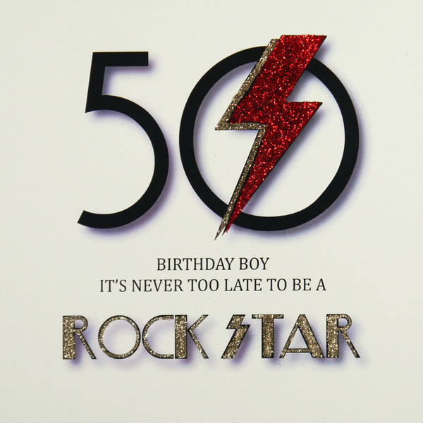 50th Rock Star Birthday Greeting Card - Five Dollar Shake