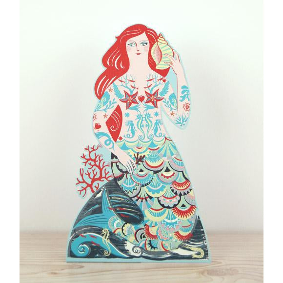 Meryl Mermaid Die-Cut Card - Art Angels by Sarah Young