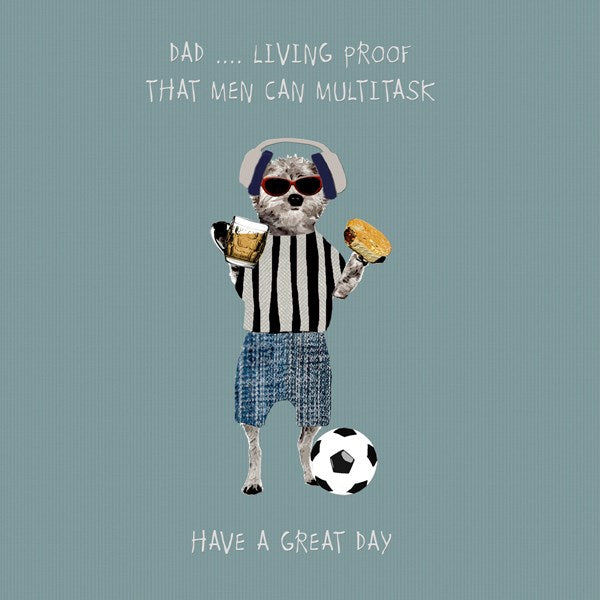 Multitasker Dad Greeting Card - Sally Scaffardi