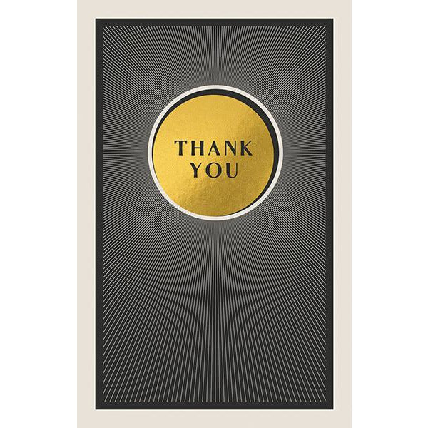 Thank You Folded Note-cards - The Art File  (Pack of 8)