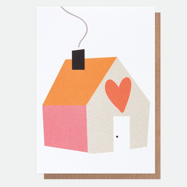 Neon Home Greeting Card - Caroline Gardner