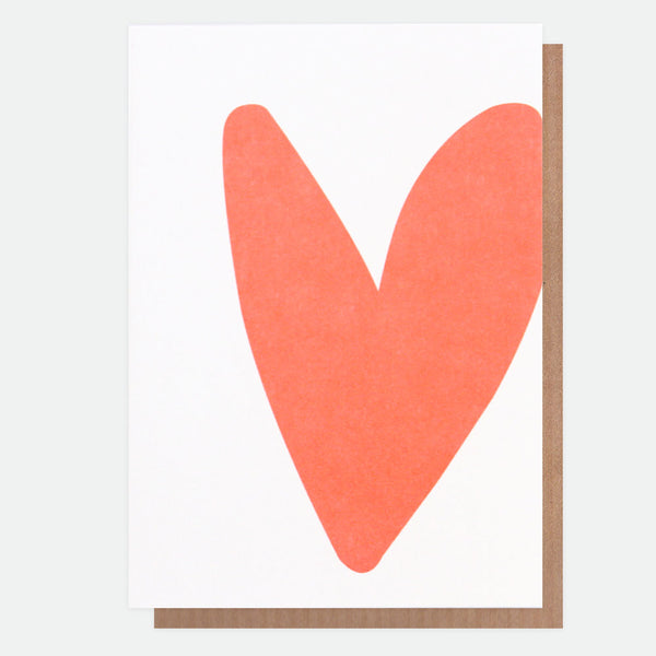Neon Heart Greeting Card - Caroline Gardner