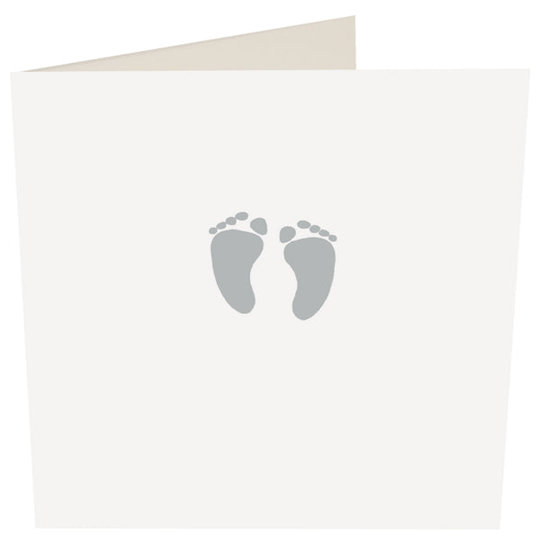 Baby Feet Greeting Card -Caroline Gardner