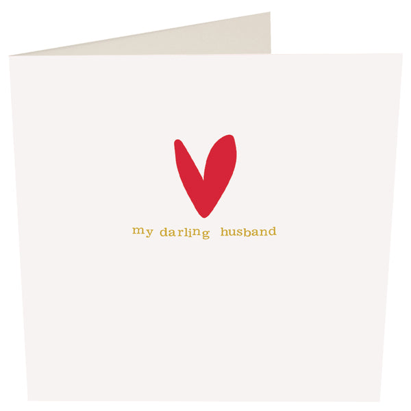 My Darling Husband Greeting Card -Caroline Gardner