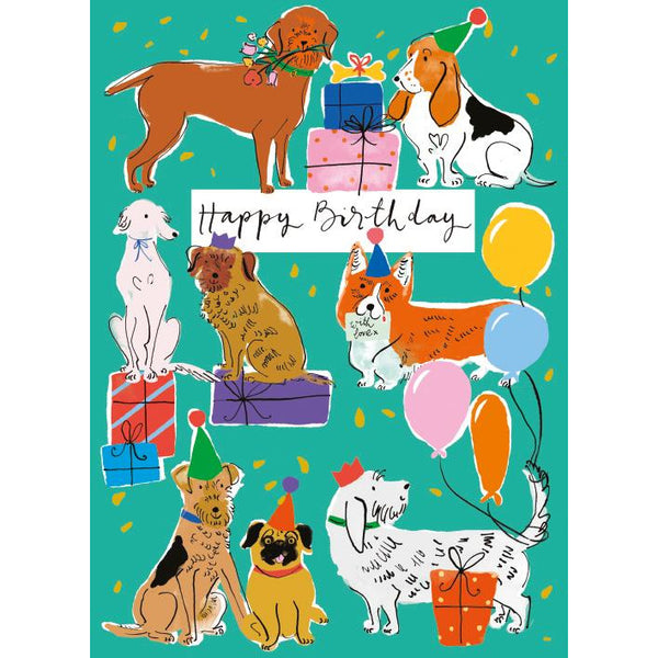 Birthday Dogs Card - Museums And Galleries by Louise Cunningham