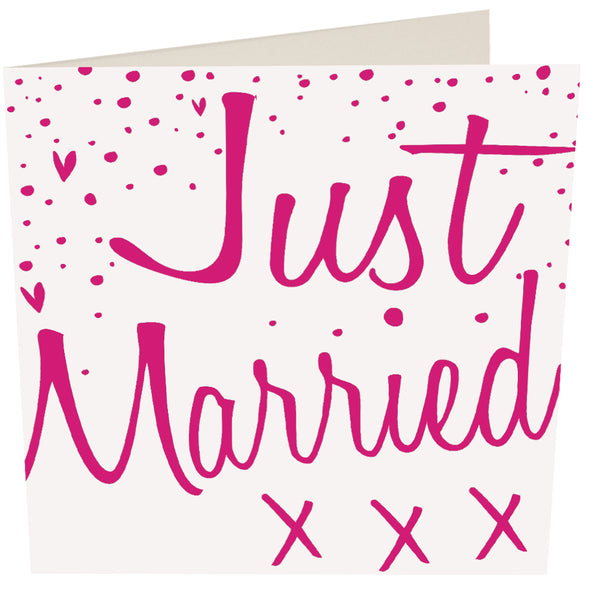 Just Married Greeting Card -Caroline Gardner