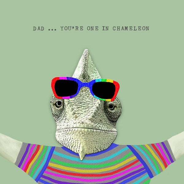 Chameleon Dad Greeting Card - Sally Scaffardi