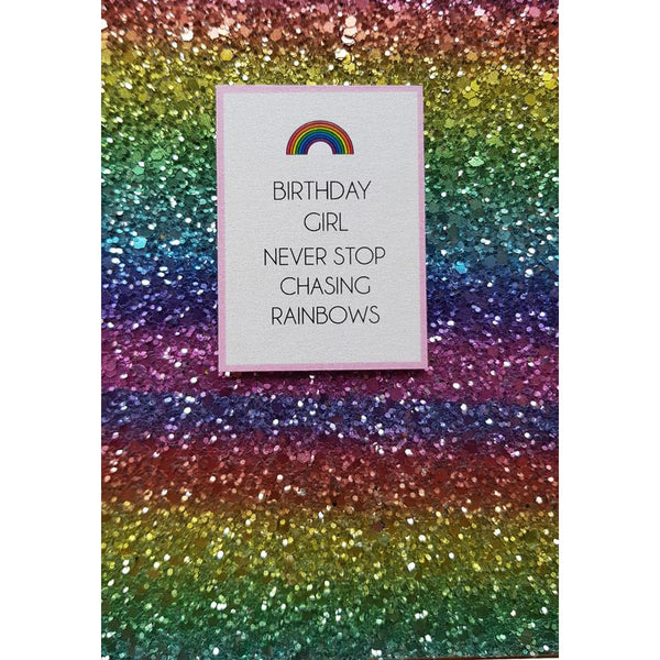 Never Stop Chasing Rainbows Greeting Card - Counting Stars by Fabrications