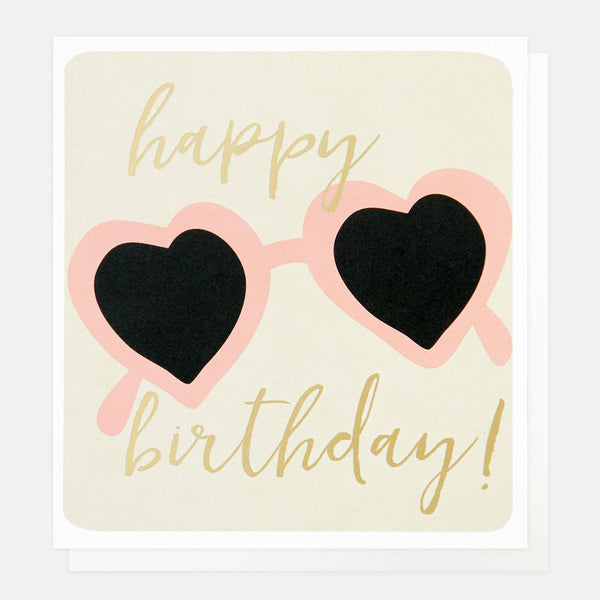 Sunglasses Happy Birthday Card -Caroline Gardner