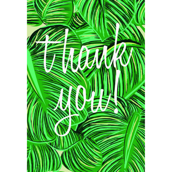 Tropical Thank You Folded Note Cards - Caroline Gardner (Pack of Ten)