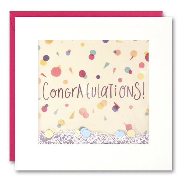 Congratulations Confetti Shakies Greeting Card - James Ellis by Claire Shorrock