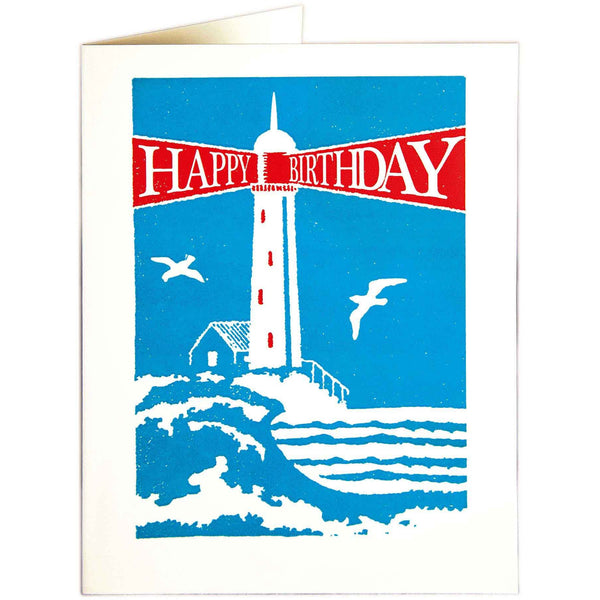 Lighthouse Birthday Card - Archivist Press