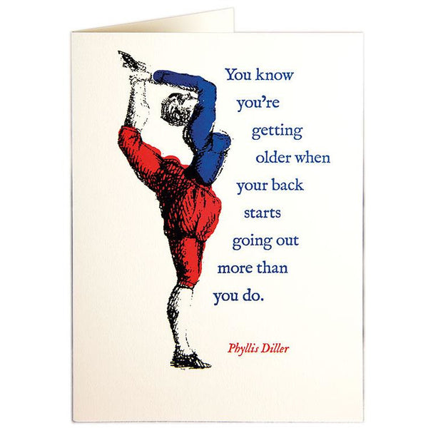 Getting Older Greeting Card - Archivist Press