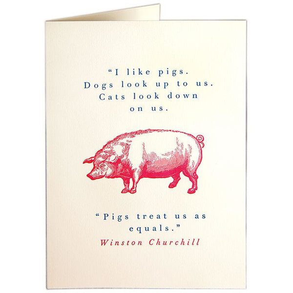 Pigs Greeting Card - Archivist Press