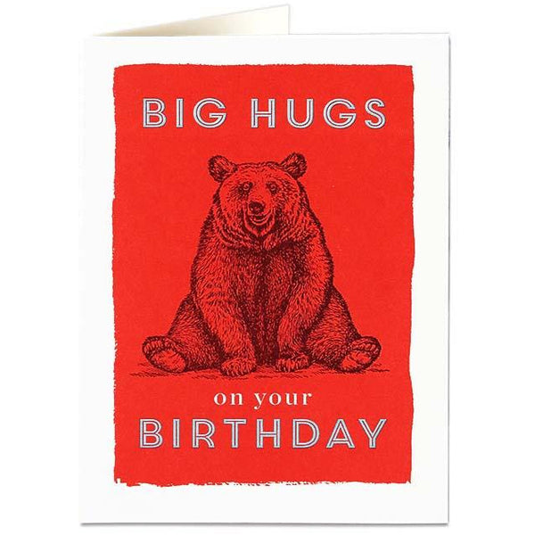 Big Hugs Birthday Card - Archivist Press