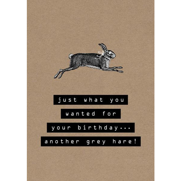 Another Grey Hare Greeting Card - The Art File