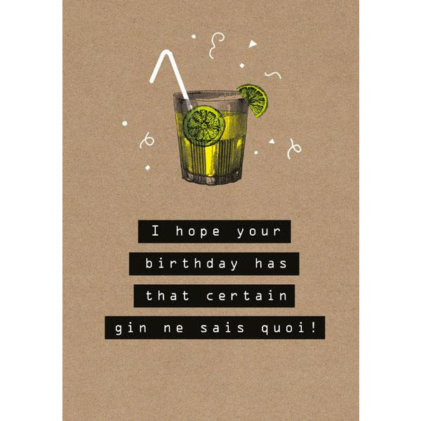 Gin ne sais quoi? Greeting Card -  The Art File