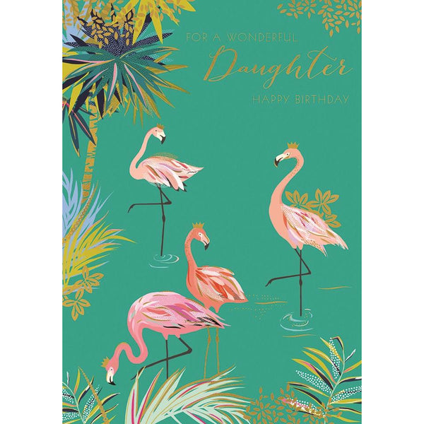 To a Wonderful Daughter Greeting Card - The Art File by Sarah Miller