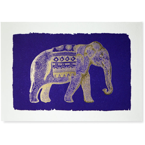 Elephant Blue Folded Note Cards - Archivist Press (Pack of Five)