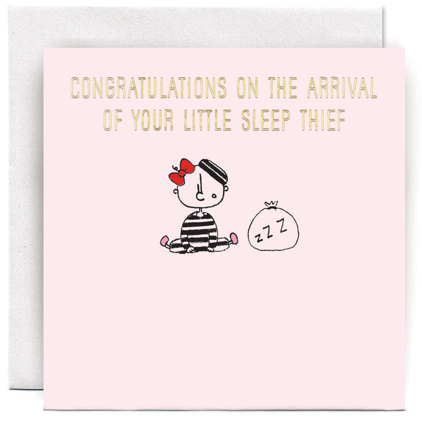 Sleep Thief Girl Greeting Card - Susan O'Hanlon