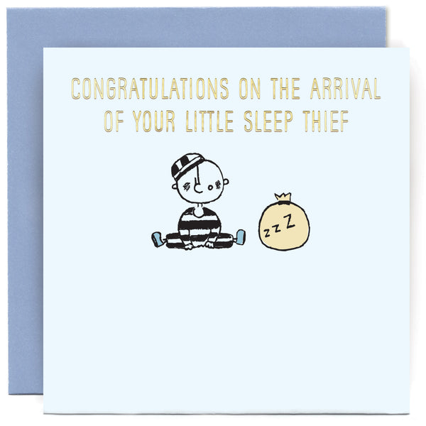 Sleep Thief Boy Greeting Card - Susan O'Hanlon