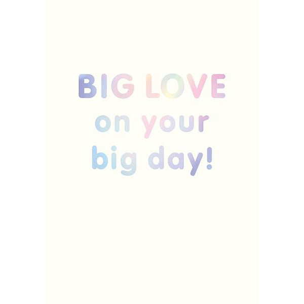 Big Love On Your Big Day Greeting Card - The Art File
