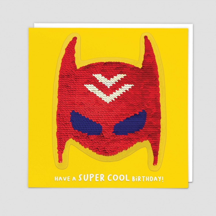 Superhero Sequins Patch Greeting Card - Redback Cards