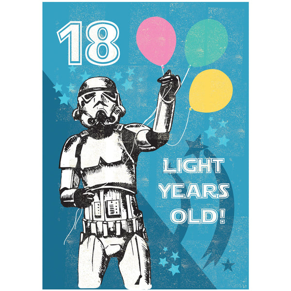 18 Light Years Greeting Card - Rocket 68 Stormtrooper