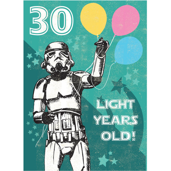 30 Light Years Greeting Card - Rocket 68 Stormtrooper