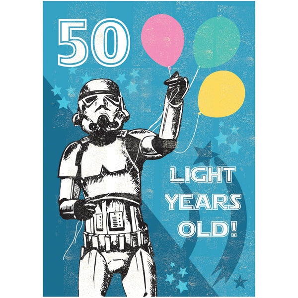 50 Light Years Greeting Card - Rocket 68 Stormtrooper