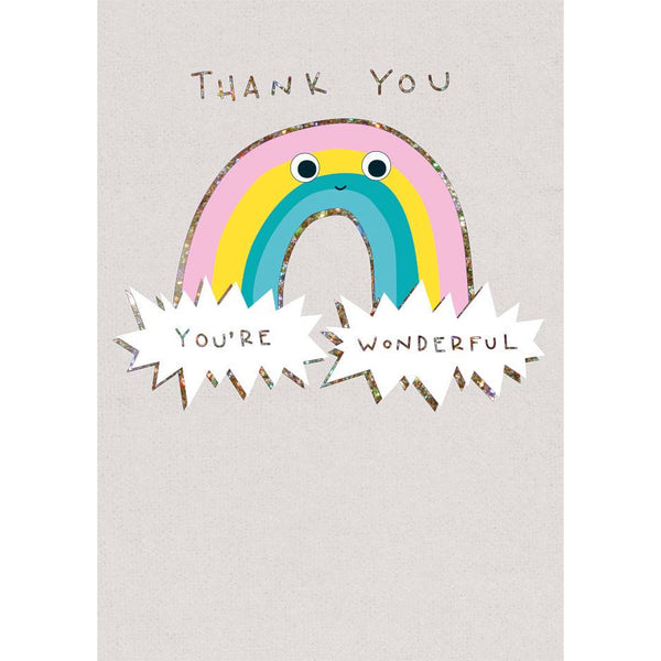 Thank You Rainbow Greeting Card - The Art File