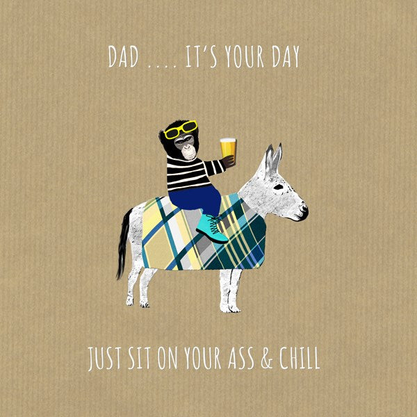 Chill Dad Greeting Card - Sally Scaffardi