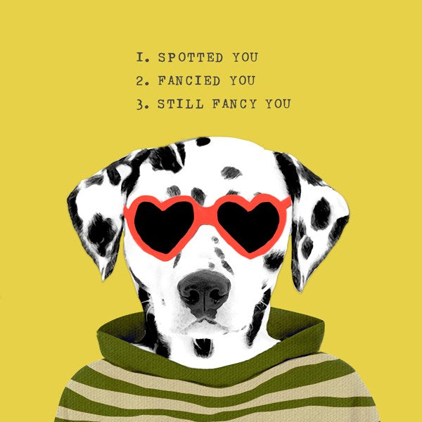 Spotted You Greeting Card - Sally Scaffardi