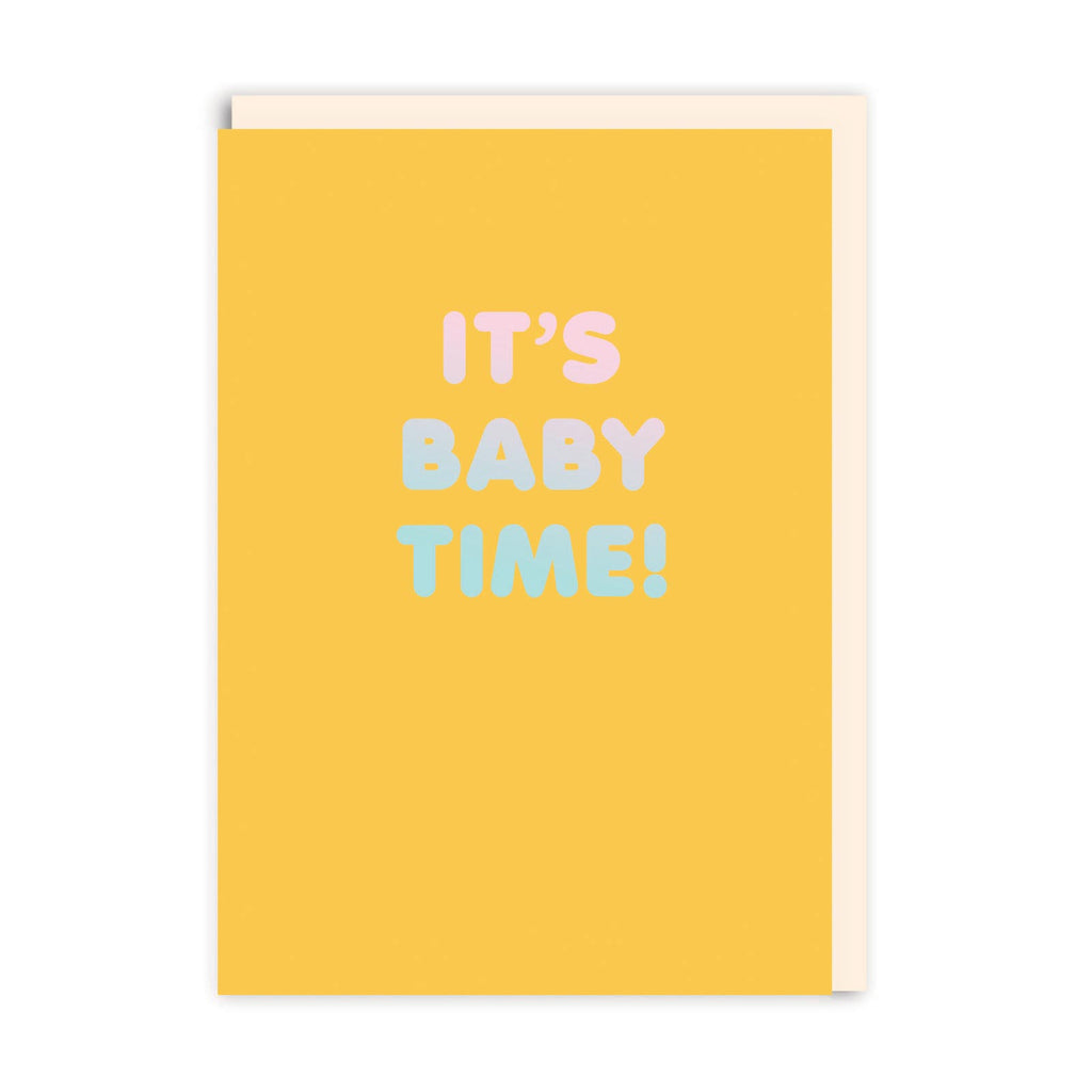 It's Baby Time Greeting Card - Ohh Deer