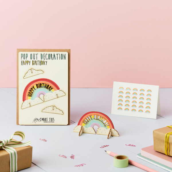 Happy Birthday Rainbow - The Pop Out Card Co.