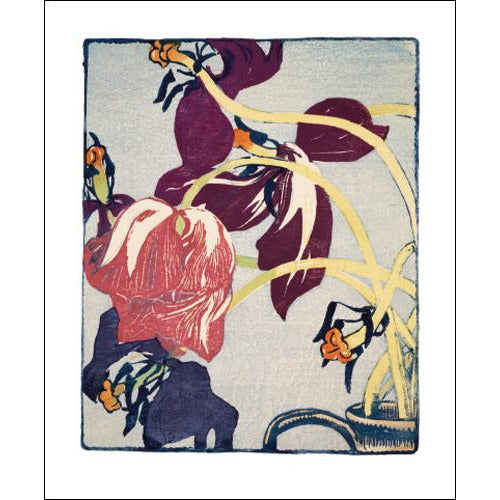 Tulips Woodcut Card - Art Angel by Mabel Royds