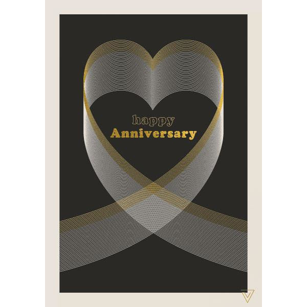 Happy Anniversary Greeting Card - The Art File