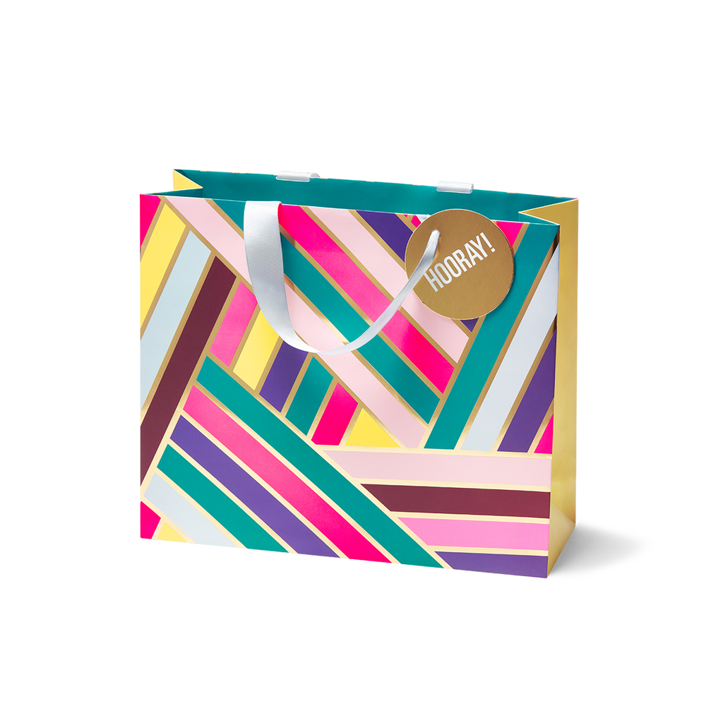 Colourful Stripes Medium Gift Bag Gift Bag - Lagom Design by Cherished