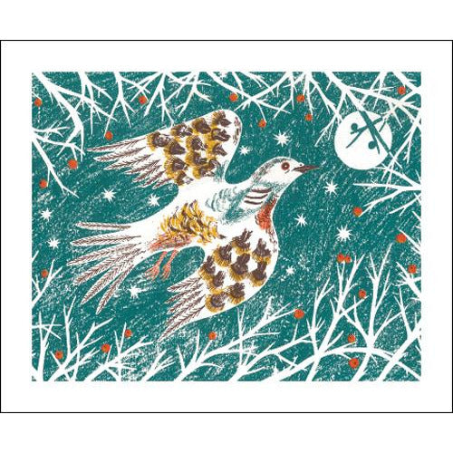 Winter Birds Screenprint Card - Art Angels by Emily Sutton