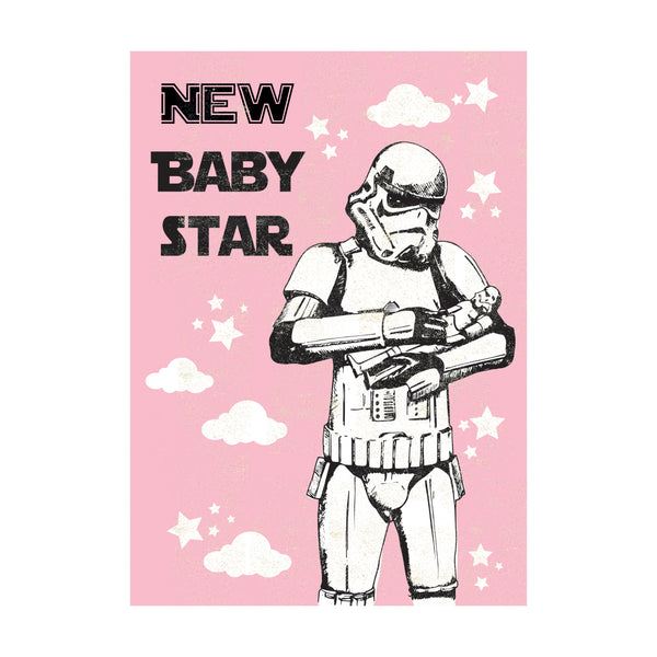 Baby Girl Greeting Card - Rocket 68 Stormtrooper