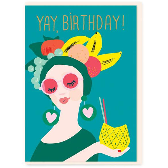 Tropical Lady Birthday Greeting Card - Noi Publishing
