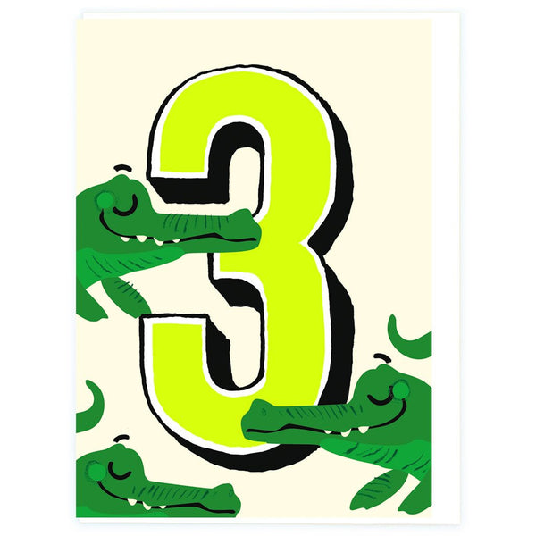 Age 3 Crocs Birthday Greeting Card - Noi Publishing