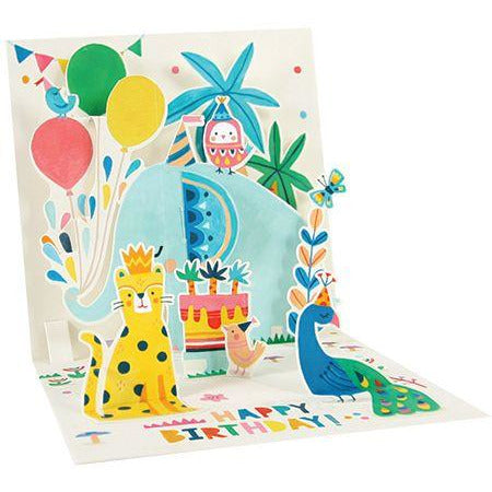 Elephant Pop-up Birthday Card - Up With Paper