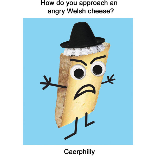 Caerphilly Greeting Card - Kiss Me Kwik