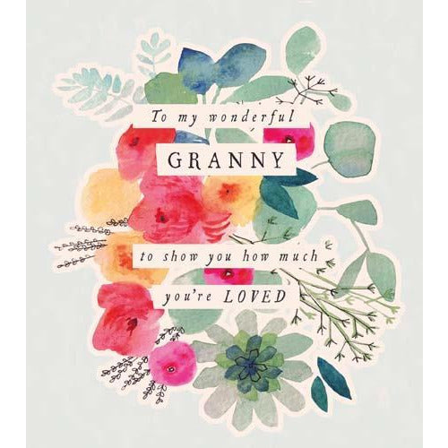 Wonderful Granny Birthday Card - Pigment Productions