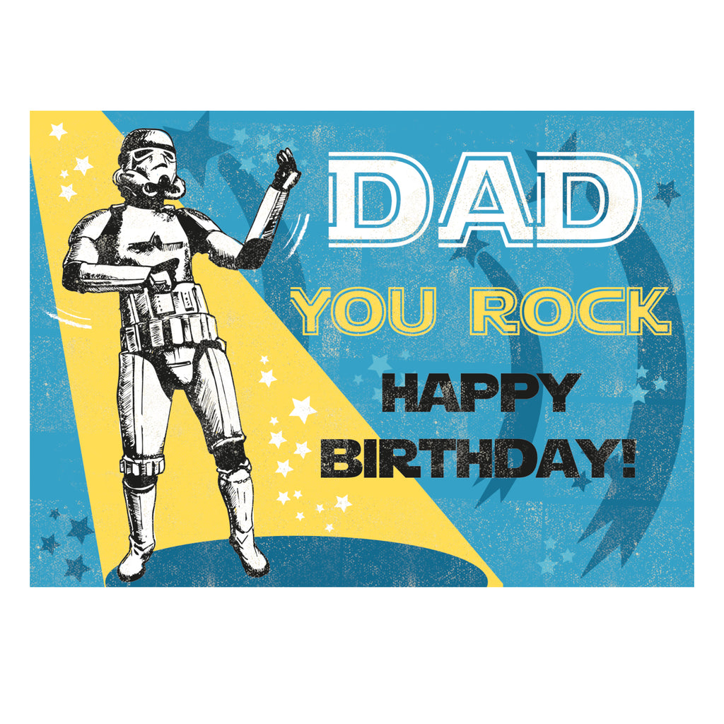 Dad Birthday Greeting Card - Rocket 68 Stormtrooper