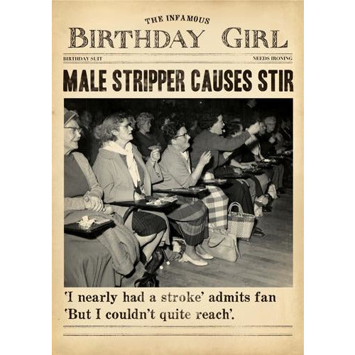Stripper Greeting Card - Pigment Productions