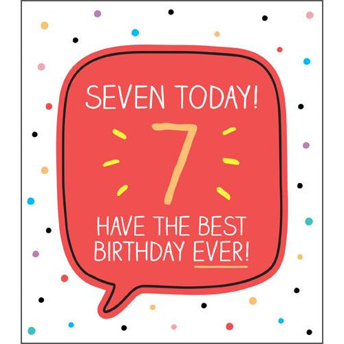 7 Best Birthday Ever! Birthday Card - Pigment Productions