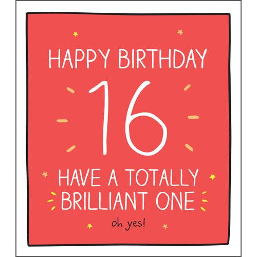 16 Totally Brilliant One Birthday Card -Pigment Productions