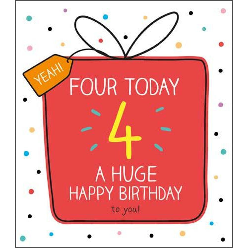 4 Today Huge Birthday Dotty Birthday Card - Pigment Productions